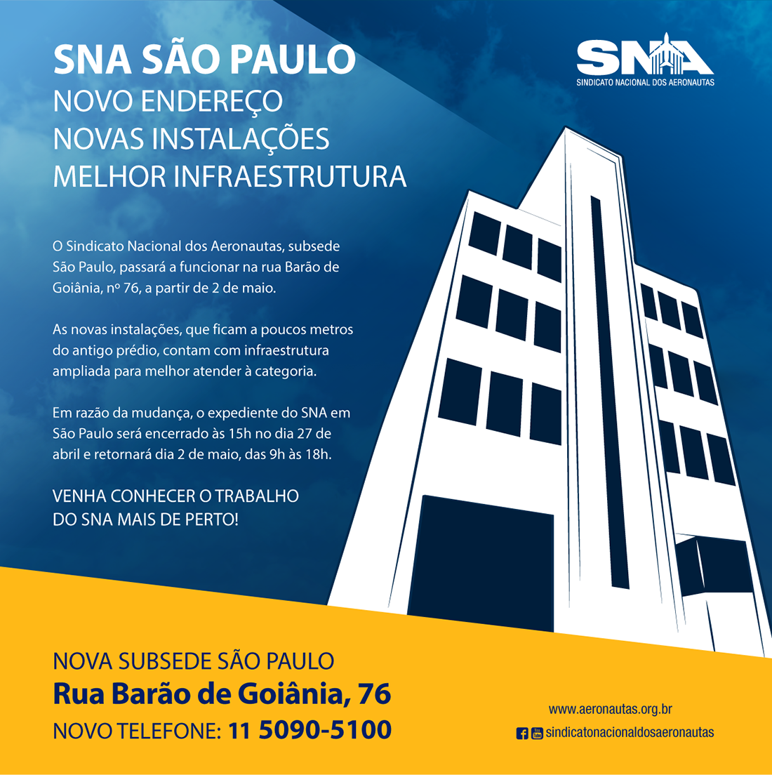 post inauguracao sede sna sp